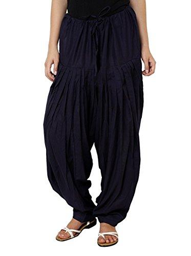kalpit creations Women's plain Cotton Comfort Punjabi Patiala Salwar Bottom Pants Semi-Patiala...