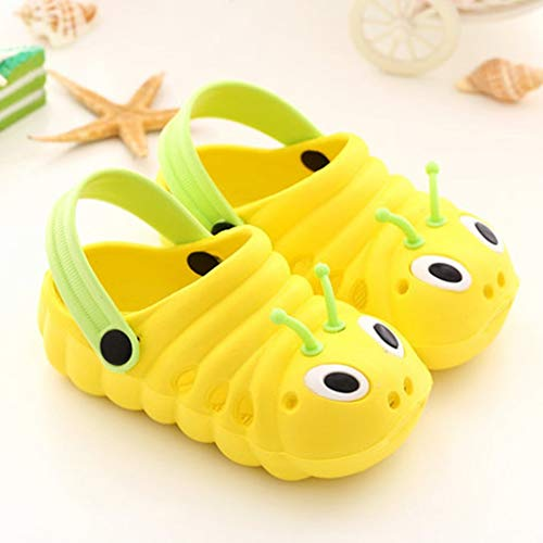 Boomboom Baby'Shoes Toddler Little Kids Kids EVA Clogs Slide Sandals Non-Slip Summer Slippers Lightweight Beach Pool Water Shoes for Girls and BoyYellow 26