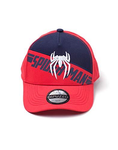 Preisvergleich Produktbild Spiderman Cap PS4 3D Embroidery Screen Print Curved Bill Cap Red