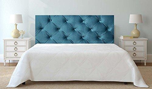 Tête de lit PVC Imitation Capitonnée Bleue Impression Numérique Sans Relief | 200x60cm | Disponible en différentes tailles | Tête de lit léger, élégant, résistant et économique