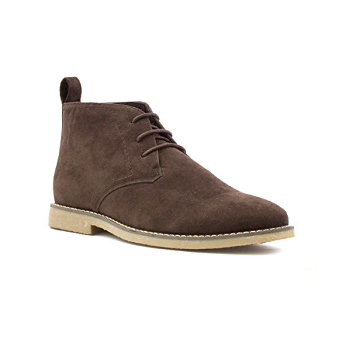 hobos-mens-suede-effect-brown-lace-up-desert-boot-size-12-brown