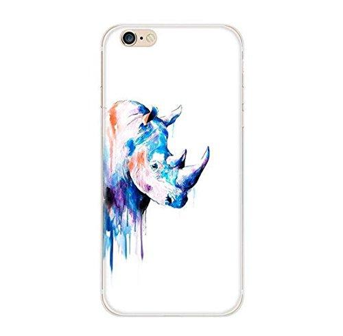 Pacyer® iPhone 5 5S SE Custodia Wild Animals TPU Case Gel Silicone Protettivo Skin Shell Case Cover Per Apple iPhone 5 5S SE Rhino