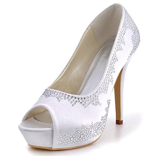 XINJING-S Bowknot Tacchi Alti scarpe matrimonio partito donne tacchi pompe OL vestono scarpe Sandali Blu navy