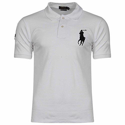 Ralph Lauren Herren Poloshirt, Einfarbig Gr. L, weiß (Mesh-polo Big Pony)