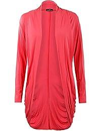 Fast Fashion - Gilet Long Jersey en Viscose Froncé style Boyfriend - Femme