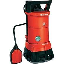 Einhell GE-DP 6935 Bomba de aguas sucias y depuradas, ECO-Power, caudal 13500 l/h, potencia 520 W, 230 V, color negro y rojo