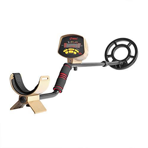 HOOMYA Detector de Metales de 25 cm de Profundidad Alta precisión y sensibilidad Treasure Hunter Gold...