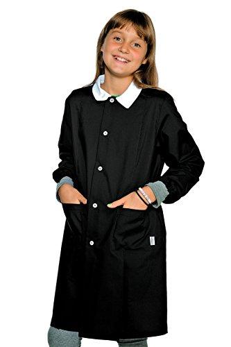 Grembiule pollicino isacco per scuola elementare 6-11 anni (10 anni, nero)