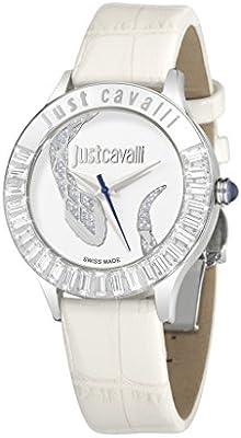 Just Cavalli R7251597502 - Reloj con correa de piel, para mujer, color blanco