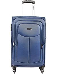 Safari Polyester 54.5 cms Blue Softsided Carry-On (Tergo-57-Blue-4wh)