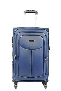 Safari Polyester 64.5 cms Blue Softsided Suitcase (Tergo-67-Blue-4wh)