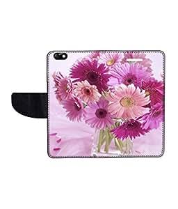 KolorEdge Printed Flip Cover For Huawei Honor 4X Multicolor - (55KeMLogo09207Honor4X)