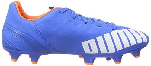 Puma evoSPEED 4.4 FG Unisex-Kinder Fußballschuhe Blau (electric blue lemonade-white-orange clown fish 03) iqkHr8zX