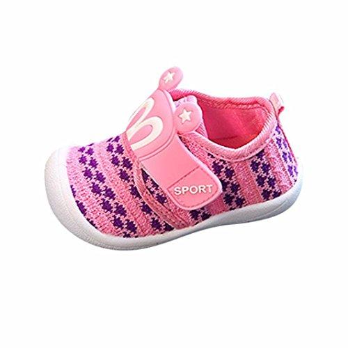 FNKDOR Baby Quietsche Schuhe Hasenohren Squeaky Krabbelschuhe für Jungen und Mädchen(Länge: 12 cm,Pink)