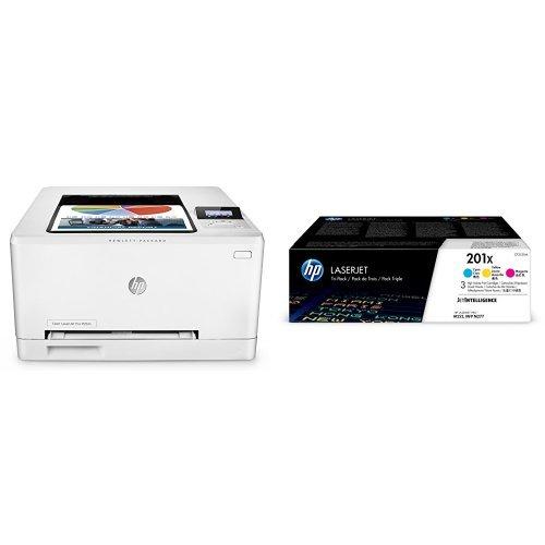 Preisvergleich Produktbild HP Color LaserJet Pro M252n Farb-Laserdrucker (Drucker, LAN, HP ePrint, Apple Airprint, USB, 600 x 600 dpi) weiß  mit passenden Original Tonern
