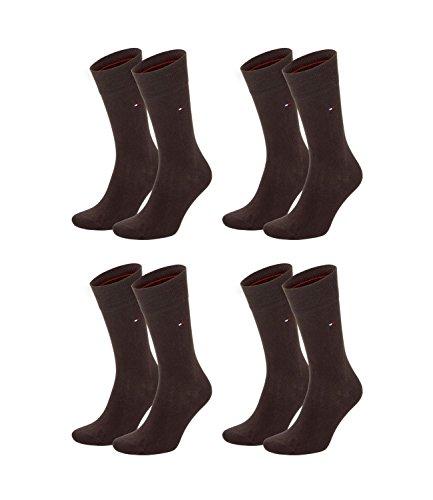 TOMMY HILFIGER Herren Classic Casual Business Socken 4er Pack verschiedene Farben (kensington brown (937), 39-42)