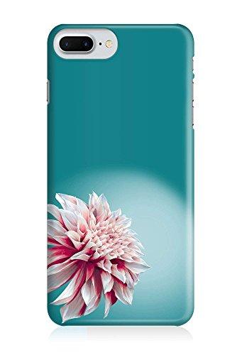 COVER Blume floral Blüte pink auf türkis Design Handy Hülle Case 3D-Druck Top-Qualität kratzfest Apple iPhone 7 Plus