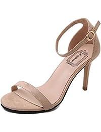 Juleya Mujer Tacón Alto Sandalias Tobillo Strappy Zapatos Elegante Primavera Verano Punta Abierta Stiletto Sandalias...
