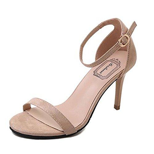 Juleya Femme Talon Haut Sandales Cheville Strappy Chaussures Élégant Printemps Été Open Toe Talons Aiguilles Sandales Bukle Soir Bal de Promo Mariage Fête Pompes 35-39
