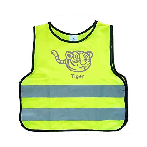 Reflektierende Warnweste Für Kinder Gelb |Flexibel, Leicht, Einstellbar (Size : S) ()