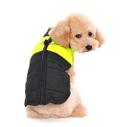 Ericoy Winter Warm Pet Hund Kleidung klein Wasserdichte Hundemantel Jacke Winter Gesteppt Gepolstert Puffer Pet Kleidung