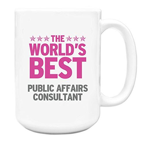 Pink Worlds Best Öffentlichkeitsarbeit Berater Big Kaffeebecher 312