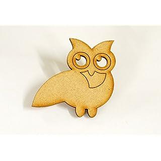 Apex Laser Ltd 20 pack 20mm 'Owl' Craft Shape, Craft Embellishments, Made from Medite Premier MDF (OWL1)