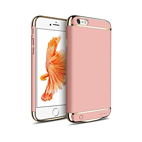 MYGIRLE Batterie-Kasten 2500 / 3500mAh Fall Charging für iPhone 6 / iPhone 6s 4,7/5,5-Zoll-Energien-Bank-Ladegerät-Fall Wiederaufladbare Juice Pack,Pink,i6/6splus[3500mah]