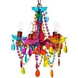 Silly SY100772MC - Lámpara candelabro, 5 brazos, multicolor