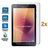 Pack 2X Pellicola salvaschermo per Samsung Galaxy Tab A 8,0 2017 SM-T385/T380, Pellicole salvaschermo Vetro Temperato 9H+, di qualità Premium Tablet, Elettronica Re®