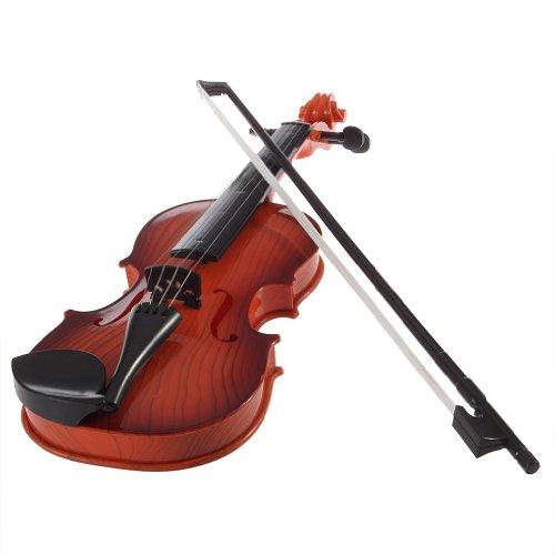 SODIAL (R) Dunkelbraun Kinder Simulation elektrisch Geige Spielzeug Geige