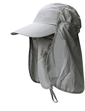 Esterno Sole Cappello Pescatore Devils Cappello Tutto L'asciugatura Rapida Cappello Da Sole UV Di Guida,Grey-AllCode