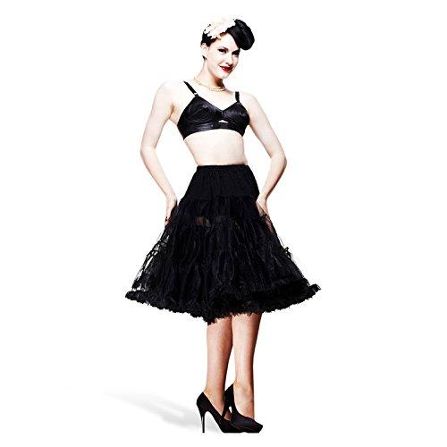 Sottoveste nera - Petticoat leggero - Da abbinare ai vestiti Rockabilly - Per dare volume al vostro stile anni 50 - Hell Bunny - L-XXL