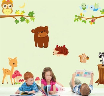 UberLyfe The most popular jungle theme sticker we have Size 4 (Wall Covering Area: 110cm x 140cm) - WS-000152