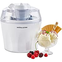 "Andrew James Ice Cream Maker Machine with Detachable Mixing Paddle 1.5L - Makes Gelato Frozen Yoghurt & Sorbet Machine - Voted ""Best Buy"" By Which? Magazine"