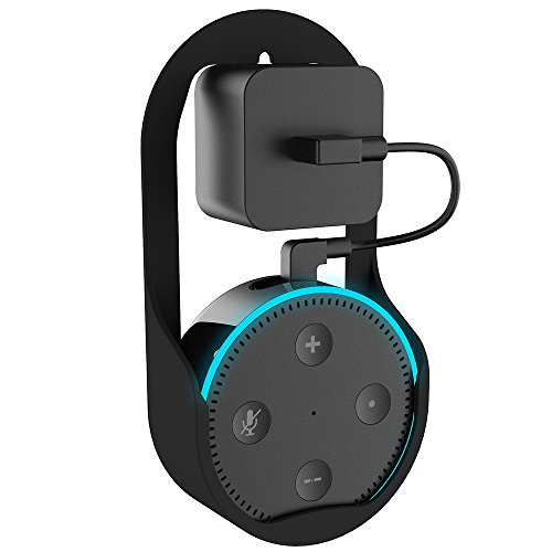 FREESOO Soporte Colgante Pared para Amazon Echo Dot 2 Soporte para altavoz Estéreo para sala de estar Baños Estudio habitación