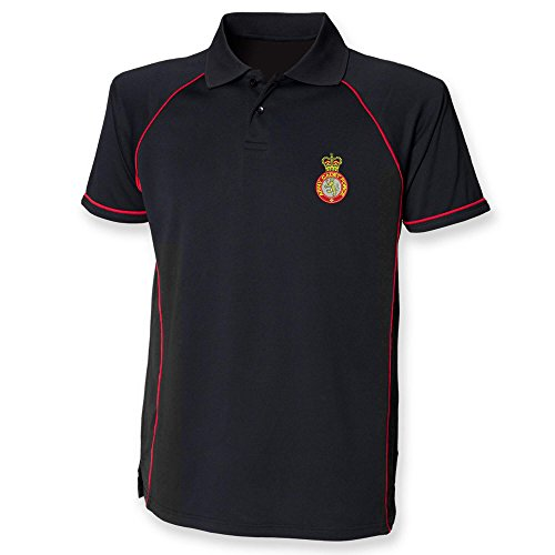 Pineapple Joe's Army Cadet Force Performance Polo, Schwarz (Polo Performance Force)