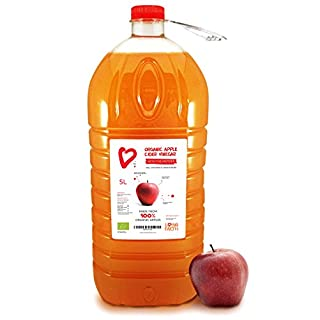 5 Litres, Living Earth Organic Apple Cider Vinegar, Cloudy with The Mother | RAW, UNFILTERED & UNPASTEURIZED ACV | Made From 100% Organic Apples | Full Of Beneficial Minerals, Vitamins & Enzymes.