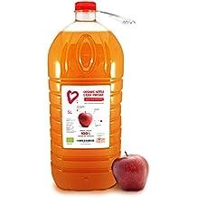 """5L - Living Earth - Vinaigre de cidre de pomme organique, 5L, avec """"la mère"""", non filtré, non raffiné et non pasteurisé. Très riche en minéraux, vitamines et enzymes. Plein de bienfaits pour la santé et la beauté …"""
