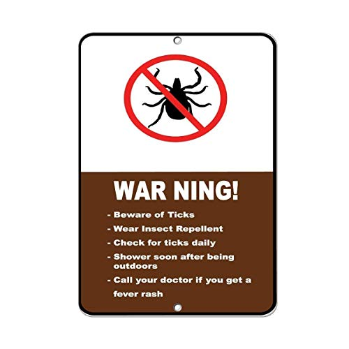 Post Hole Bar (Vincentney Metal Tin Sign Rustic Post Warning! Beware of Ticks Wear Insect Repellent Check Ticks Metal Aluminum Sign for Wall Decor 8x12 Inch)