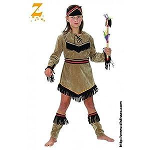 Fyasa 706081-t03Indian disfraz de niña, tamaño mediano