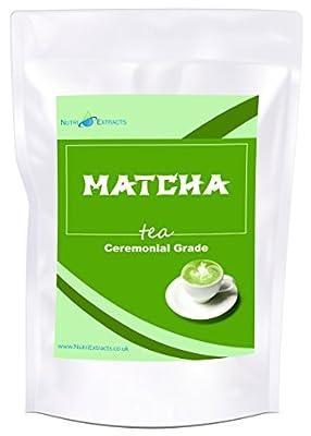 Thé Vert Matcha de Haute Qualité – en Poudre 100g – Green Tea pour smoothies, thé, mélange, cuisson, antioxydant, perte de poids, désintoxication, de NutriExtracts