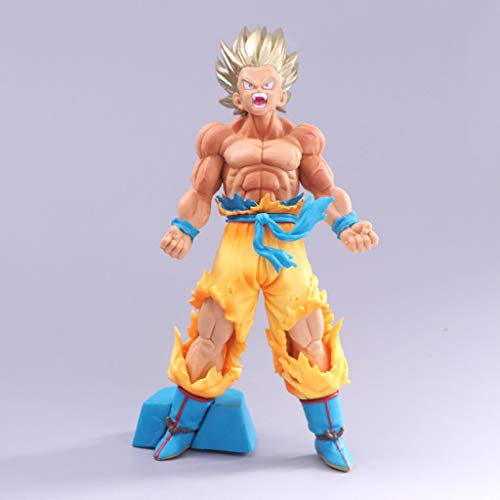 LYLLYL Dragon Ball Model Super Saiyan Exquisite Model Decoration 18 cm Statue Realistic Anime Decoration Birthday Gift Model Toy