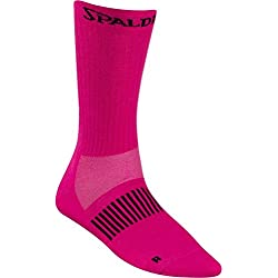 3pares de calcetines Spalding Coloured Socks Baloncesto Varios Colores + RS de Sports Bolígrafo, color fluo pink/anthra, tamaño 36-40