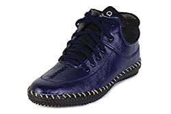 Quarks Mens Blue Synthetic High Ankle Casual Shoes