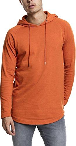 Urban Classics Herren Kapuzenpullover Long Shaped Terry Hoody,Orange (rust orange), L -