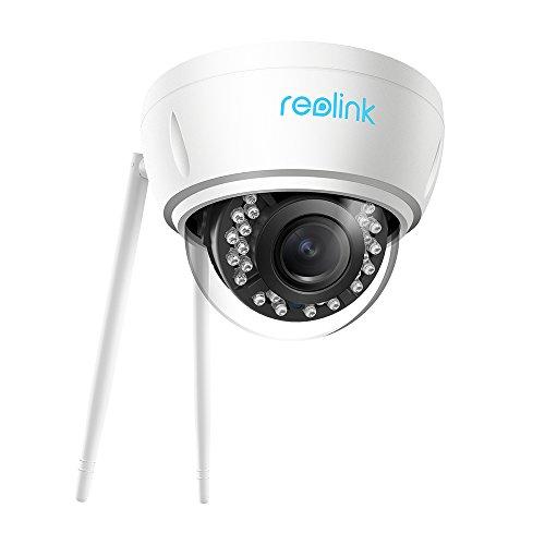 Reolink 5MP LAN WLAN IP Kamera mit 4X optischem Zoom für Außen, 2,4/5Ghz WiFi Überwachungskamera mit Autofocus, IR Nachtsicht, SD Kartenslot und Bewegungsmelder, RLC-422W