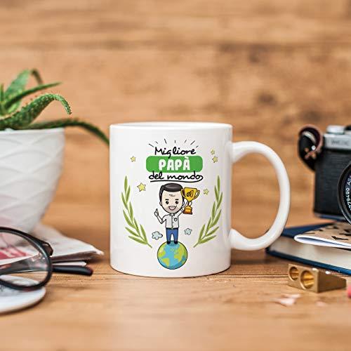 Mugffins papà Tazze Originali di caffè e Colazione da Regalare Papa – Migliore papà del Mondo – Ceramica 350 ml - 3