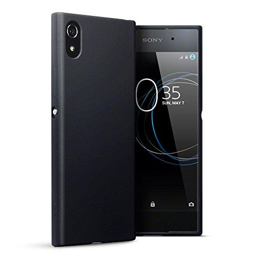 Terrapin, Kompatibel mit Sony Xperia XA1 Hülle, TPU Schutzhülle Tasche Case Cover - Matt Schwarz EINWEG
