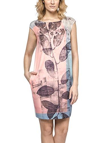 Ennywear 230183 Kleid Dame gemustert Rundhals ärmellos Oversize , Größe 44, Grau